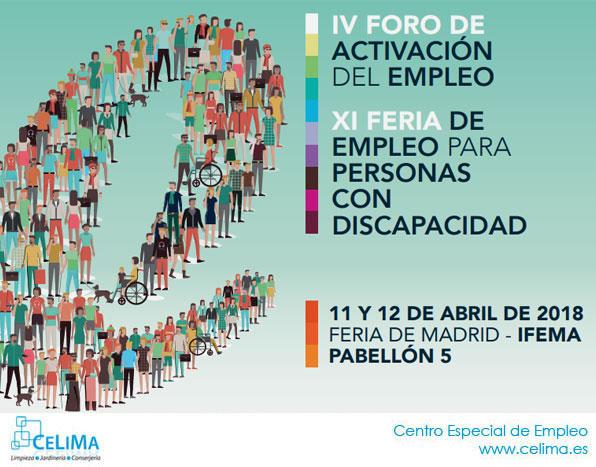 XI Feria de Empleo para Personas con Discapacidad. 11 y 12 de abril en IFEMA, Madrid