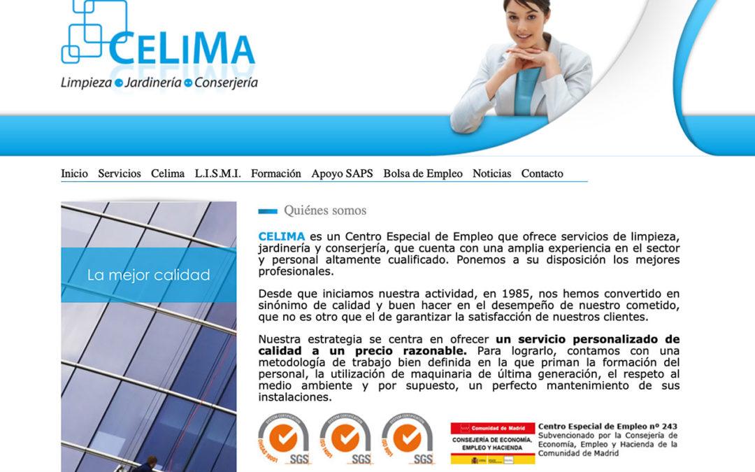 Servicios de limpieza conserjería y mantenimiento Celima: Renovamos web
