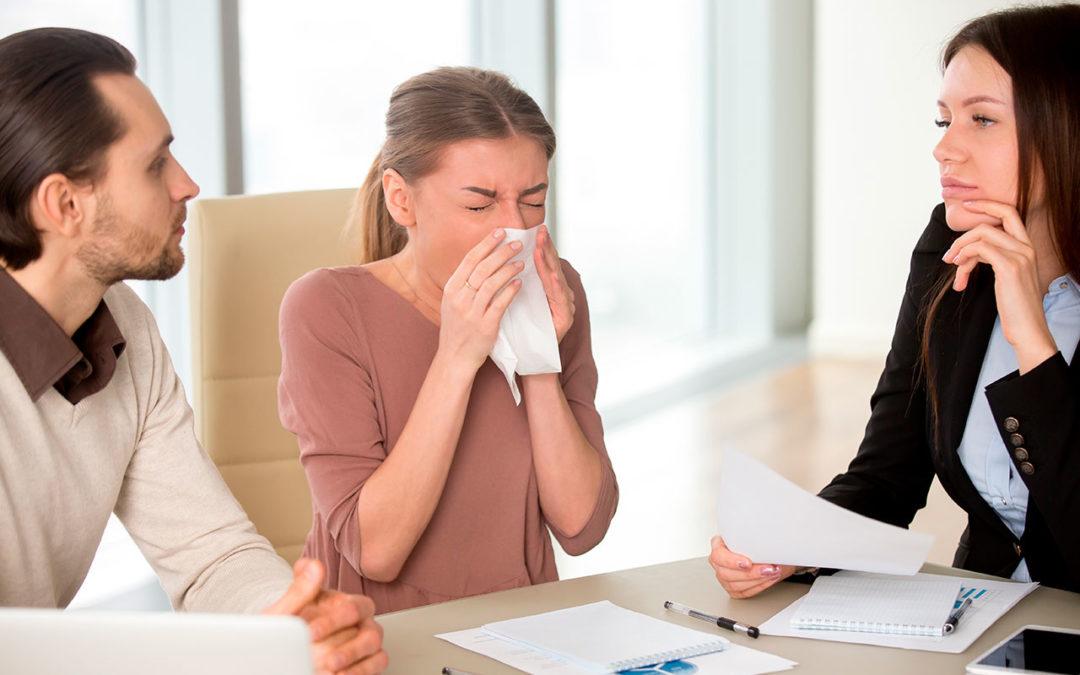 Cómo reducir los riesgos de contagio de la gripe en el trabajo