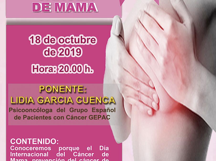 """Conferencia """"Día Internacional del Cáncer de Mama"""""""